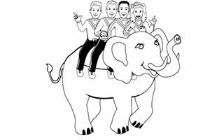 The Wiggles Ride An Elephant